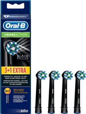 Oral-B - Recambios Cabezales Cross Action Black Pack 3+1 Negro