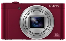 "Sony DSC-WX500 - Cámara digital compacta 18Mp 3"" 24-720mm 30xOpt. Full HD Rojo"